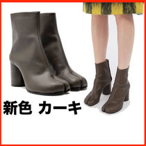 Maison Martin Margiela Tabi Plain Leather Block Heels Ankle & Booties Boots