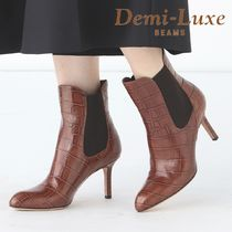 BEAMS Other Animal Patterns Leather Pin Heels Elegant Style