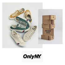 ONLY NY Suede Street Style Collaboration Plain Sneakers