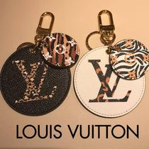 Louis Vuitton MONOGRAM Leopard Patterns Unisex Leather Keychains & Bag Charms