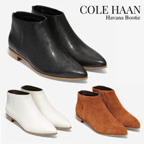 Cole Haan Rubber Sole Casual Style Plain Leather Ankle & Booties Boots