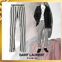 Saint Laurent Stripes Cotton Jeans & Denim