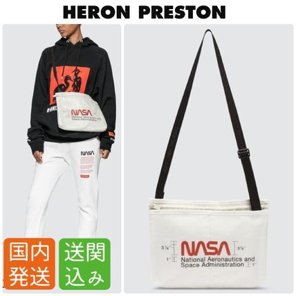 Casual Style Nylon Street Style Collaboration Shoulder Bags