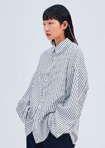 OPEN THE DOOR Stripes Casual Style Unisex Street Style Long Sleeves Cotton
