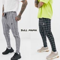 SikSilk Other Check Patterns Street Style Cropped Pants