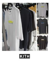 KITH NYC Unisex Henry Neck Street Style Plain Cotton Short Sleeves