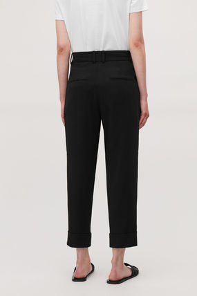 Plain Office Style Slouch Pants Cropped & Capris Pants