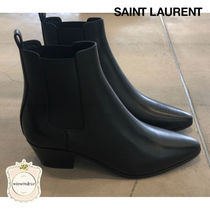 Saint Laurent Casual Style Leather Boots Boots