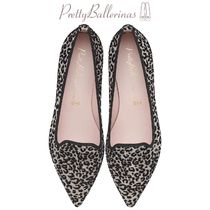 Pretty Ballerinas Leopard Patterns Pointed Toe Shoes