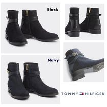 Tommy Hilfiger Round Toe Casual Style Suede Street Style Block Heels