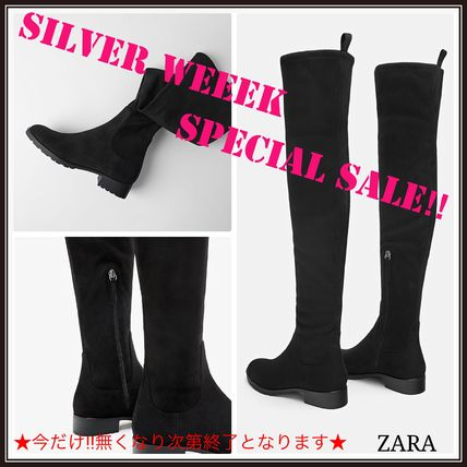 Plain Over-the-Knee Boots