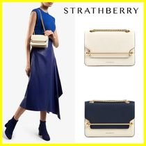 STRATHBERRY 2WAY Plain Leather Shoulder Bags