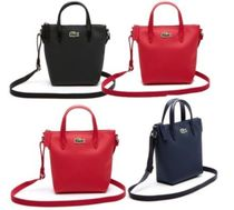 LACOSTE Casual Style 2WAY Plain PVC Clothing Totes