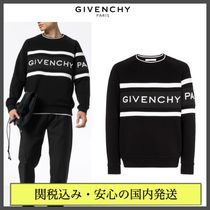 GIVENCHY Crew Neck Pullovers Sweat Street Style Bi-color Long Sleeves