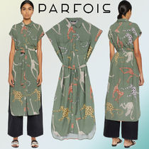 PARFOIS Casual Style Other Animal Patterns Short Sleeves