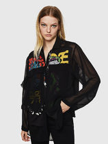 DIESEL Casual Style Street Style Long Sleeves Shirts & Blouses