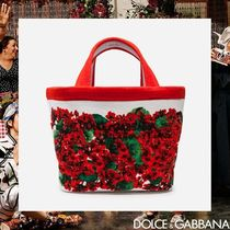 Dolce & Gabbana Flower Patterns Dots Casual Style Totes