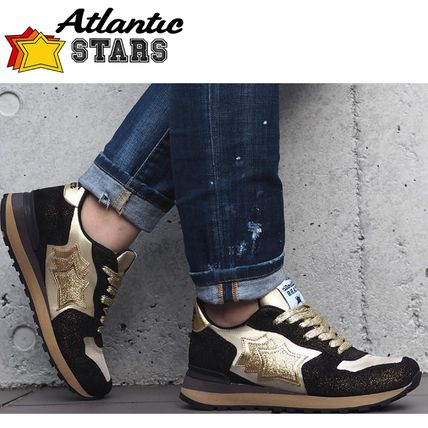 Star Casual Style Suede Street Style Handmade Logo