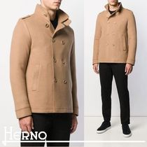 HERNO Short Wool Plain Peacoats Coats