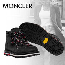 MONCLER Plain Toe Mountain Boots Rubber Sole Casual Style