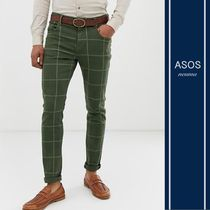 ASOS Other Check Patterns Blended Fabrics Street Style Cotton