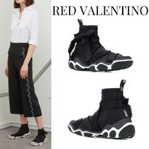 RED VALENTINO Rubber Sole Street Style Plain Low-Top Sneakers