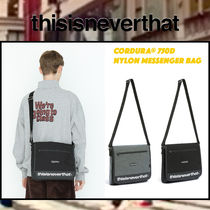 thisisneverthat Unisex Street Style Collaboration Plain Bags