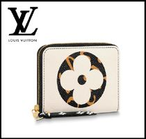 Louis Vuitton ZIPPY COIN PURSE Monogram Leopard Patterns Leather Folding Wallets