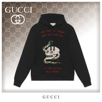 GUCCI Unisex Street Style Long Sleeves Cotton Hoodies