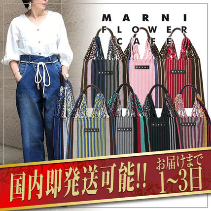 Stripes Casual Style A4 Totes
