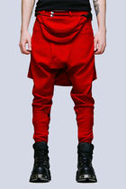 LONG CLOTHING Unisex Street Style Plain Sarouel Pants