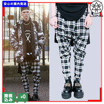 LONG CLOTHING Tartan Unisex Street Style Collaboration Sarouel Pants
