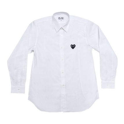 COMME des GARCONS Shirts Stripes Heart Unisex Street Style Long Sleeves Designers 6