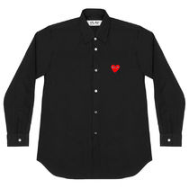 COMME des GARCONS Shirts Stripes Heart Unisex Street Style Long Sleeves Designers 7