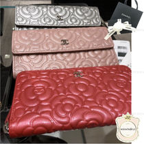 CHANEL Leather Long Wallets