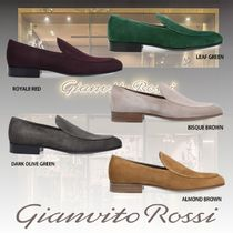 Gianvito Rossi Loafers Suede Plain U Tips Loafers & Slip-ons