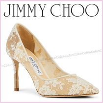 Jimmy Choo Flower Patterns Pin Heels Party Style