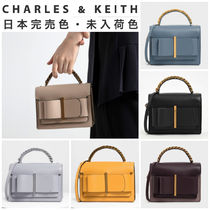 Charles&Keith Faux Fur Blended Fabrics Vanity Bags 2WAY Plain Party Style