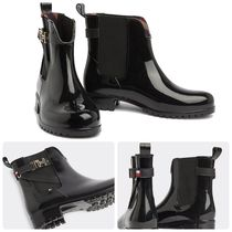 Tommy Hilfiger Round Toe Rubber Sole Casual Style Plain Chelsea Boots