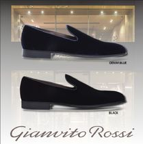 Gianvito Rossi Plain Toe Blended Fabrics Shoes