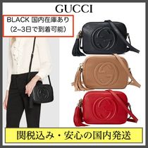 GUCCI Soho Casual Style Tassel Plain Leather Party Style Office Style
