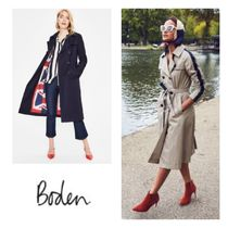 Boden Union Jack mark Long Midi Elegant Style Trench Coats