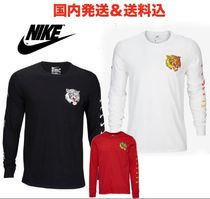 Nike Long Sleeves Cotton Logos on the Sleeves