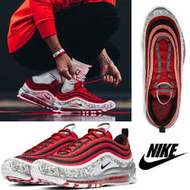 Nike AIR MAX 97 Blended Fabrics Street Style Collaboration Leather Bold