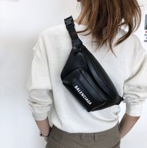 BALENCIAGA EVERYDAY TOTE Plain Leather Hip Packs
