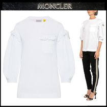 MONCLER MONCLER GENIUS Casual Style Street Style Cropped Plain Cotton Fringes