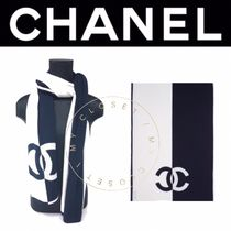 CHANEL ICON Casual Style Blended Fabrics Street Style Plain Handmade