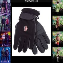 MONCLER GRENOBLE Unisex Blended Fabrics Plain Leather