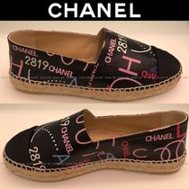 CHANEL Platform Round Toe Casual Style Lace-Up Shoes