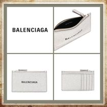 BALENCIAGA Plain Leather Card Holders